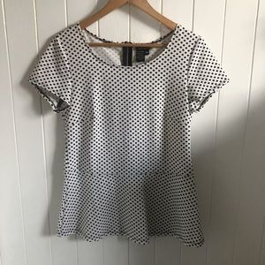 LAURA Polkadot Peplum Top